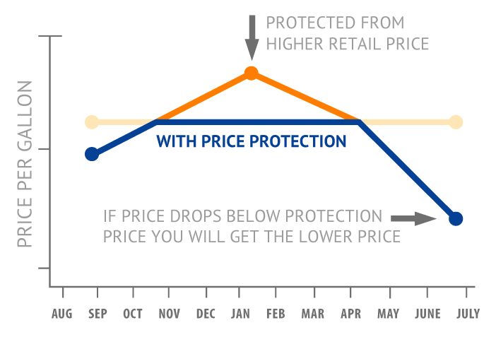 Cap Price Protection Graph