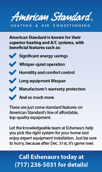American Standard heating and air conditioner information