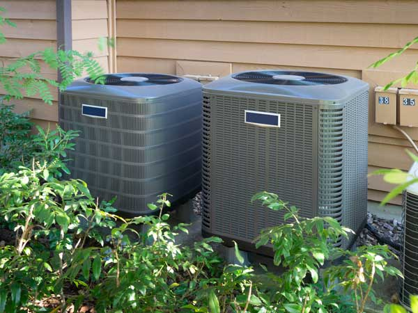 air conditioners outside a home